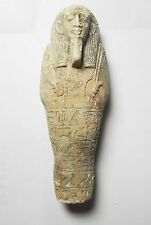 ZURQIEH -TAT7- ANCIENT EGYPT , FAIENCE USHABTI. INSCRIBED. 600 - 300 B.C
