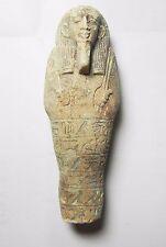 ZURQIEH -TAT7- ANCIENT EGYPT , FAIENCE USHABTI. INSCRIBED. 600 - 300 B.C