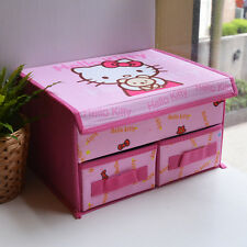 SANRIO Hello Kitty With Bear Clothes Storage Box Basket Foldable for Kid Girl 1