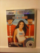 What a Girl Wants Mini Size Disc DVD - Brand NEW - Plays in Regular DVD Players