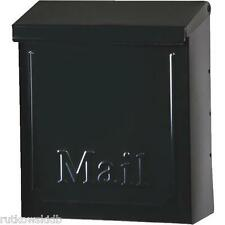 Gilbraltar Black Vertical Lockable Steel Townhouse Wall Mailbox With Lock