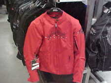 SPEED & STRENGTH TO THE 9'S WOMENS MED TEXTILE JACKET NEW RED $49 FREE SHIPPING