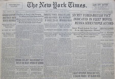 4-1939 WWII April 22 SECRET TURKEY-BRITISH PACT INDICATED IN FLEET MOVES RUSSIA