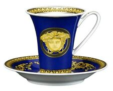 VERSACE MEDUSA BLUE TEA CUP SAUCER HIGH SET NEW ROSENTHAL  SALE RETAIL $300