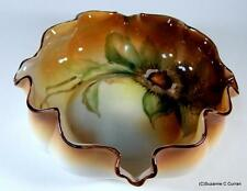Antique 1920's Nippon Noritake  Hand Painted Chestnut Nut Bowl