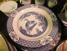 """Wood & Sons Blue """"Yuan"""" 9"""" Luncheon Plate"""