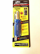 "PICQUIC SIXPAC Plus Screwdriver Multi Bit with 7 Hex Bits - ""Electric Blue"""