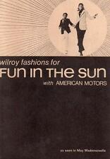 AMC NOS Wilroy Fashions 70 71 book AMX Javelin Hornet Sportabout Win a Gremlin