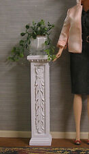 1:6  scale  CARVED  PEDESTAL  /  PLANT  STAND ~ White ~ Dollhouse ~ Furniture