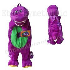 Barney Dinosaur Soft Plush Backpack Shoulders Bag Kids Doll Toy #02