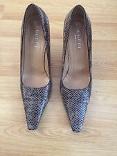 CLASSIC GUCCI BY TOMFORD REAL SNAKE SKIN HEEL WOMEN SHOES Sz 39.5 UK 6.5