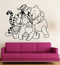 Wall Stickers Vinyl Decal Nursery Winnie The Pooh Cartoon Baby Room (ig1056)