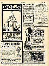 Bayard-Automobile Adler Frankfurt a.M. * Bols Liqueur Amsterdam u.a. Ad 1906