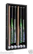 PRO UV PROTECTION 6 Baseball Bat Display Case, Lockable Cabinet: B66(UV)-BLA