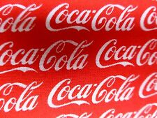 COCA COLA Fabric Fat Quarter Cotton Red White COKE Craft Quilting Licensed