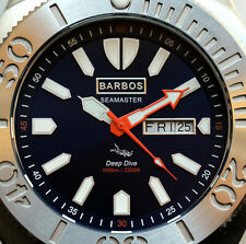 "BARBOS ""SEAMASTER"" DAY-DATE  SAPPHIRE  WR 3300ft/1000m MENS DIVER WATCH"