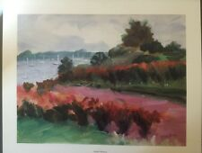 FINE ART LITHOGRAPH: Bayside Harmony By Janet Claire Blagdon 28 X 33