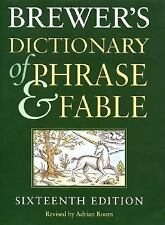 Brewer's Dictionary of Phrase and Fable, Adrian Room, Good Book