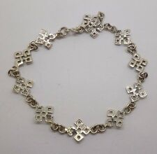 This is a beautiful sterling silver gothic cross  bracelet