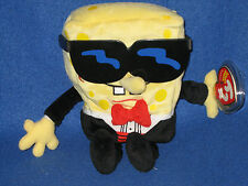 TY SPONGEBOB TUXEDO PANTS  BEANIE BABY - NEAR PERFECT TAG -  PLEASE READ