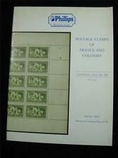 PHILLIPS AUCTION CATALOGUE 1987 FRANCE AND COLONIES POSTAGE STAMPS
