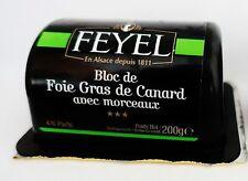 Bloc de foie gras d 'canard entier canards foie Feyel 200g France