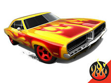 Hot Wheels Cars - '69 Dodge Charger Yellow