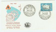Belgien  FDC Ersttagsbrief 1963 Verkehrsministerkonferenz Mi.Nr.1313