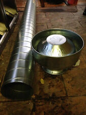 Commercial Canopy exhaust system / ducting / fan motor 12inch