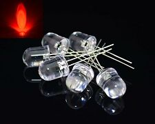 10pcs 8mm Ultra Bright RED 620-630nm LED Diodes Lamp water clear