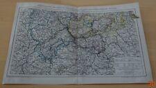 1895 RHEINPROVINZ Westfalen Hessen Nassau Südlicher Teil Original Alte Landkarte