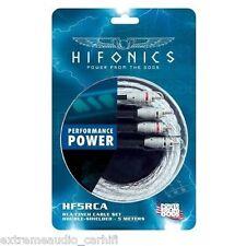 Hochwertiges Cinch-Stereokabel doppelt geschirmt HIFONICS HF5-RCA Cinchkabel 5 m