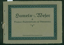 Altes Bilderalbum Hameln a. d. Weser Kupfertiefdrucke auf Büttenkarton 1910-1920