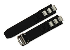 20mm Rubber Strap Watch Band Deployant Clasp for Cartier Chronoscaph Autoscaph
