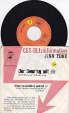 """7 """" Single von Tina York  - Der Sonntag mit dir"""