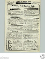 1929 PAPER AD Heddon Montague Split Bamboo Fly Fishing Rod Fishkill Expert Flip