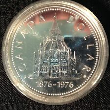 1976 Canada Silver Dollar Parliament Library Commemorative BU
