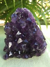 Large Amethyst Geode Cluster Crystal Quartz Cut Base Amethyst Specimen Uruguay #