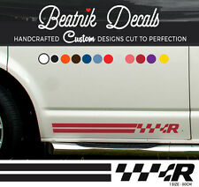 VW T5 SIDE STRIPE Adesivo Decalcomania Grafica EMBLEMA TRANSPORTER VOLKSWAGEN R Line