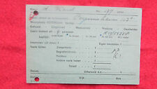 RARE ---WW2  Netherland Dutch Document- Card ,1945 stamped!