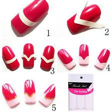 10X 480pcs French Manicure Uv Gel Polish Tip Guide Strip Nails Art Tool ITBU
