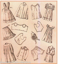 """Antique German Doll Clothes Patterns 12"""" and 15"""""""
