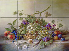 Art Corrado Pila Still Life Mural Ceramic Grape Backsplash Tile #78