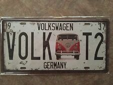 Volkswagen Beetle Bus License plate Metal Tin sign Home Bar wall Cyber Monday
