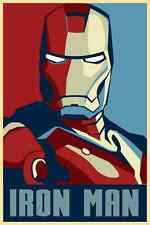 New Iron Man Poster Comic Movie Silk Wall Poster Art Pictures 24x36inch