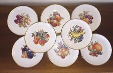"BARONET CHINA 8"" FRUIT PLATES with Gold Trim Eschenbach Bavaria ~ Set of 8"