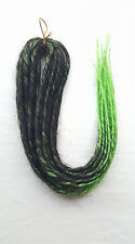 Elysee Star - Black-Green Transitional Synthetic Dreadlocks (Double Ended) x 12