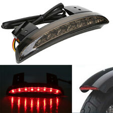 1x Chopped Fender Edge LED Tail Light Smoke Lens For Harley Iron Sportster XL883