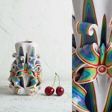 Boho Carved Decorative Candle - Unique Rainbow Wedding gifts - EveCandles