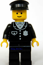 Lego Minifig Male POLICE Torso w/4 Buttons Black Legs Hat Classic Town 6396 6390